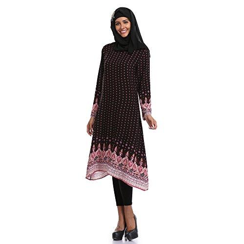 Sommerkleid Damen Große Größen rockabilly Kleider Damen Muslim ...