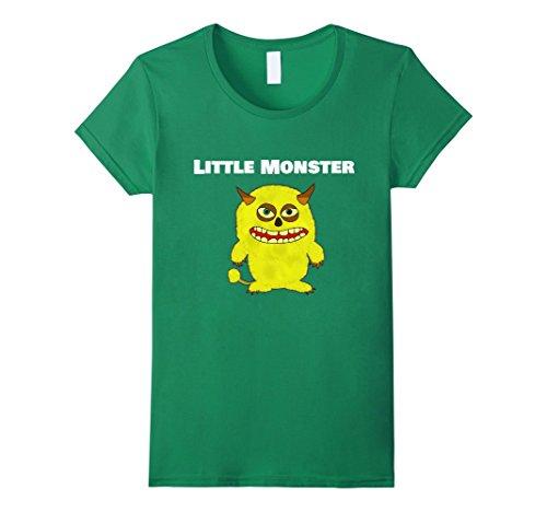 Womens Little Monster Halloween Costume Funny Shirt XL Kelly Green