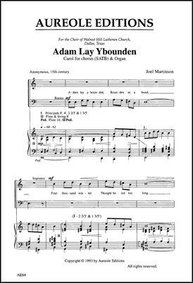 Adam Lay Ybounden - Organ Sheet ()