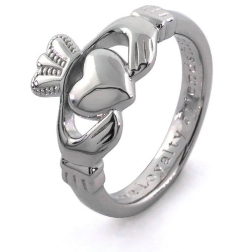 MENS BEST QUALITY Silver Claddagh Ring SMS-SG92 (13)