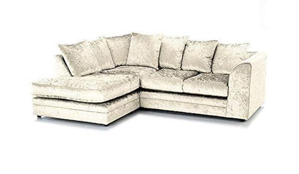 Luxe Sofas Marca Tela sofá de Esquina, de Terciopelo de Oro ...