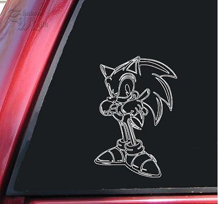 Shadowmajik Sonic The Hedgehog Vinyl Decal Sticker White Amazon In Car Motorbike