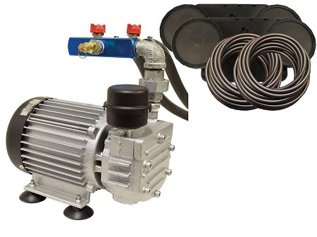 EasyPro PA55W Rotary Vane Pond Aeration System 1/2 HP Kit with 200 Ft of Tubing