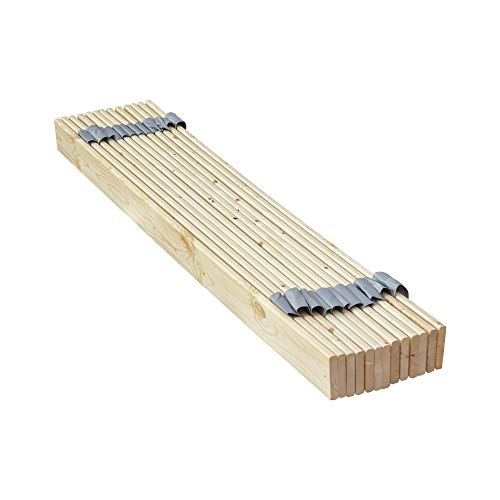 Continental Matress 1-Inch Standard Mattress Support Wooden Bunkie Board/Slats, Queen Size, Beige