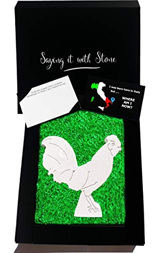 Handmade Rooster - Good Luck Gift for Him or Her - Gift Box & Blank Message Card ()