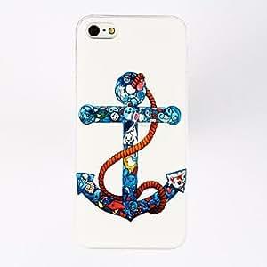JJEAnchor Pattern Plastic Hard Case for iPhone 5/5S , Multicolor