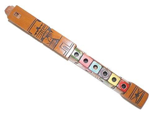 Decorative Artesanal Inca Tarka Peru Wooden Quena Flute