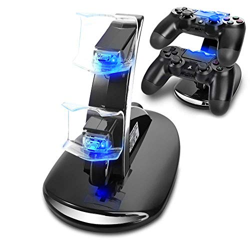Playstation4 Regular Slim Pro Controller Charger, SUNKY LED Gaming Console Charging Stand USB Dock Station Mount Cradle for Sony PS4 from SUNKY