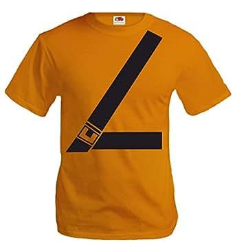 buXsbaum T-Shirt Seat Belt-S-Orange-Black