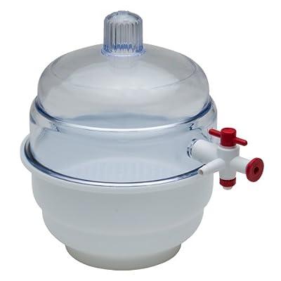 Bel-Art Scienceware Polypropylene Bottom Space Saver Vacuum Desiccator