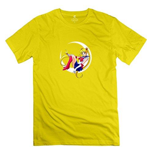 Men Sailor Moon Customized Retro Yellow T Shirt By Mjensen