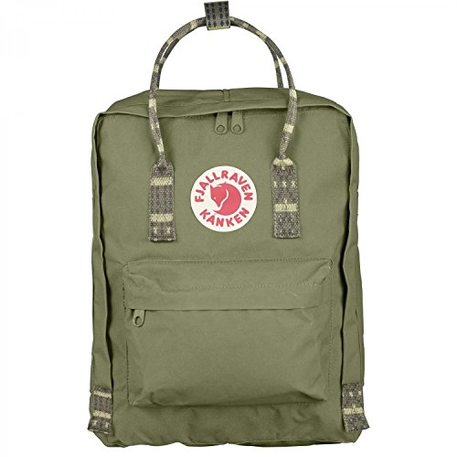 Fjallraven - Kanken Classic Pack, Heritage and Responsibility Since 1960, Green-Folk Pattern - Satchel Style Case