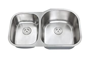 Stainless Steel Double Bowl Kitchen Sinks Chef series 34 inch premium 16 gauge stainless steel undermount 40 chef series 34 inch premium 16 gauge stainless steel undermount 4060 double bowl kitchen workwithnaturefo