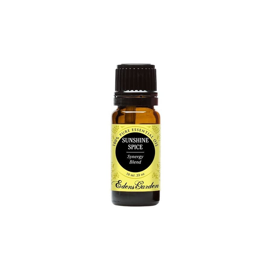 Sunshine Spice Essential Oil Blend (100% Pure, Undiluted Therapeutic/Best Grade) Premium Aromatherapy Oils by Edens Garden 10 ml