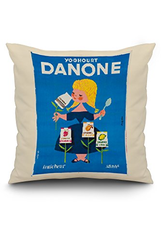 danone-vintage-poster-artist-gauthier-france-c-1955-20x20-spun-polyester-pillow-white-border
