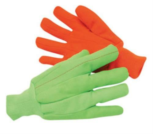 Lg Green 18 Oz Cotton/Polyester Blend Fully Corded Canvas Gloves. (18 (Corded Canvas Glove)