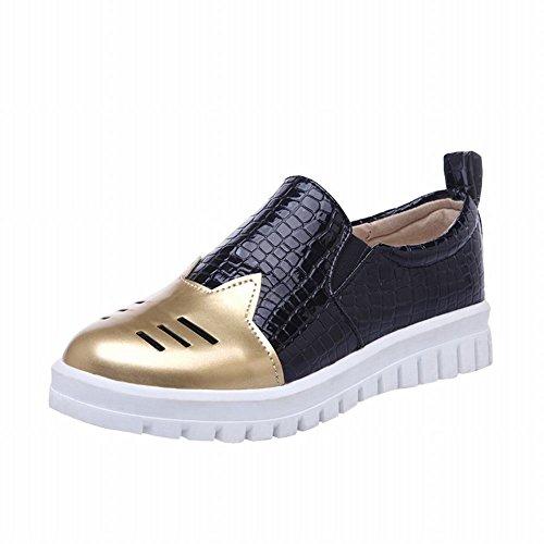 Show Shine Womens Fashion Assorted Colors Bungee Flats Shoes Gold tq5DtJn