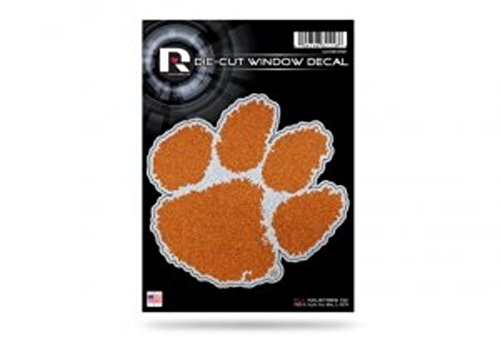 Rico Industries NCAA Clemson Tigers Bling Die Cut Window Decal with Glitter - Window Clemson