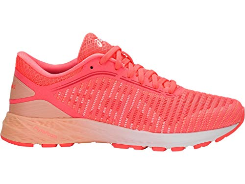 ASICS Women's Dynaflyte 2 Running Shoes, 8.5M, Flash Coral/White/Apricot ICE
