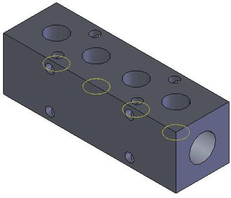 MM-320 Aluminum Single-Sided Ports Manifold 1/4 NPT Ports, 3/8 NPT Inlet