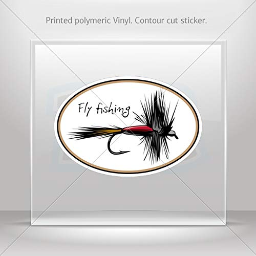 - Decal Sticker Fly Fishing Decor Motorbike Bicycle Vehicle ATV Racing G (5 X 3.42 Inches)