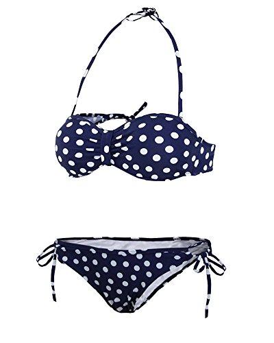 girogama––Bañador de dos piezas para mujer Azul