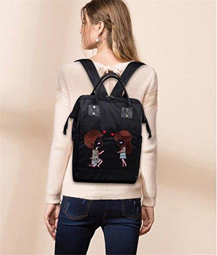 Bag Bag Function Multi Single Embroidered Fashion Shoulder A1 Sjmmbb Shoulder Nylon HzqZUEw