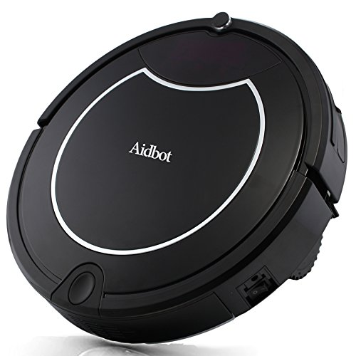 Cheap Aidbot Smart Robotic Vacuum Cleaner Auto Strong Suction Vacuum Robot Self-Charge Low Noise Dual Central Roller Sweeper Mop Robotic Vacuums with Virtual Blocker for Pet Hair Low-pile Carpet Floor