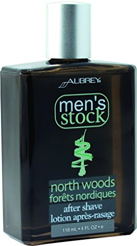 Aubrey Organics Men's Stock Aftershave * ALL NATURAL * North Woods Scent - 4oz