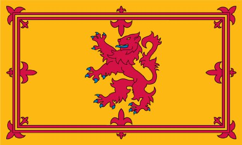 (SSK Scotland Lion Outdoor Flag - Large 3' x 5', Weather-Resistant Polyester)