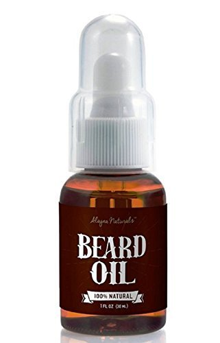 Alayna Naturals Beard Oil and Leave-In Conditioner - Best Beard Oil Fragrance Free - 100% Pure Organic Natural Unscented for Groomed Beard Growth, Mustache, Skin for Men - 1 Oz - Jojoba and Argan Oil