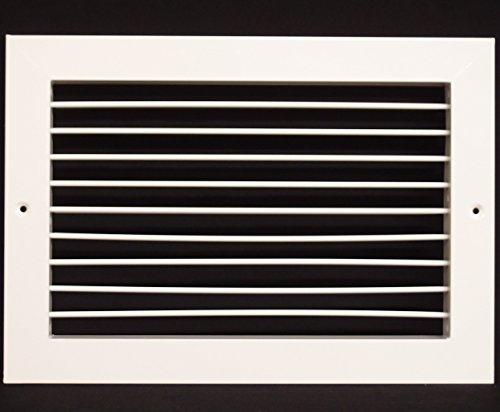 14''w X 10''h Aluminum Adjustable Return/Suuply HVAC Air Grille - Full Control Horizontal Airflow Direction - Vent Duct Cover - Single Deflection [Outer Dimensions: 15.85''w X 11.85''h] by HVAC Premium (Image #7)