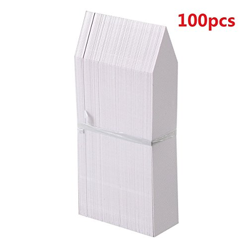 KINGLAKE 100 Pcs 4 Inch Plastic Plant Nursery Garden Labels Pot Marker Garden Stake Tags White