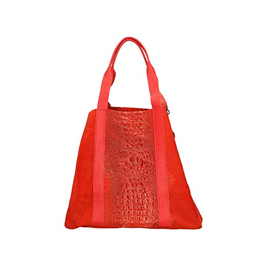 Cuir Cm À Chicca En Véritable Borse Made Main In Rouge Italy Sac qXaTw7xvXO