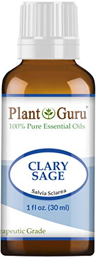 Clary Sage Essential Oil 1 oz / 30 ml 100% Pure Undiluted Therapeutic Grade.
