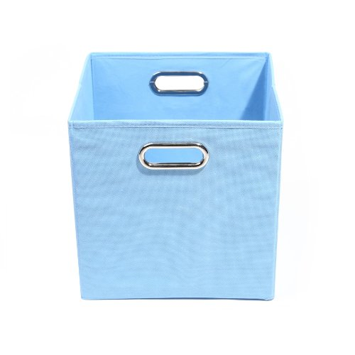 Modern Littles Sky Folding Storage Bin, Solid Blue