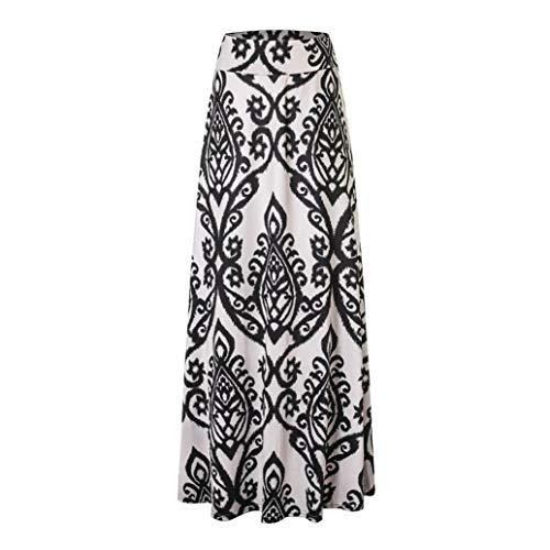 Cocon Ouverture Beige Large Extensible en Boho Jupe de Longue Taille Longue De lastique Femmes de Forme Jupe Moulante Haute Sixcup Yoga Floral Maxi wqS4OBnx1