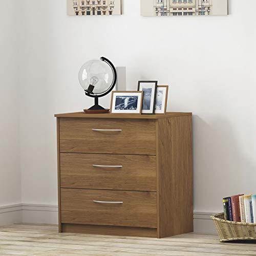 (Endicot 3-Drawer Dresser - Bank Alder | Model DRSSR - 94)