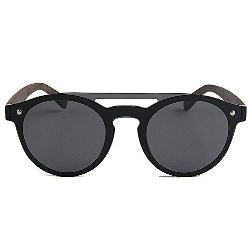 Negro Ultra Pesca sol hombre Lens Plata Men's Gafas Bamboo Vacaciones TAC Cool Style Polarized Sunglasses Frame PC Playa Conducción para de ligero Piece Protección Leg aire Al One libre Color UV RrqRAEp
