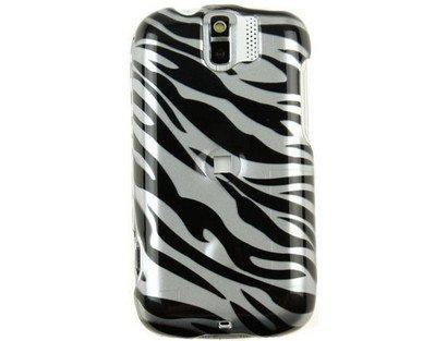 (Hard Plastic Design Phone Case Cover Silver and Black Zebra For T-Mobile myTouch 3G Slide)