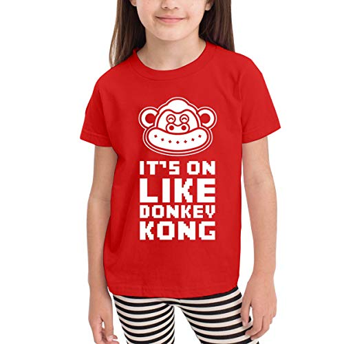 Rusuanjun It's On Like Donkey Kong Children's T-Shirt Red 2T Fun and Cute