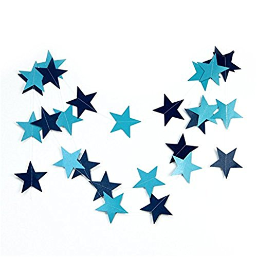 Gaosaili Sparkling Star Garland Hanging Decoration Blue (A Star Is Born Baby Shower compare prices)