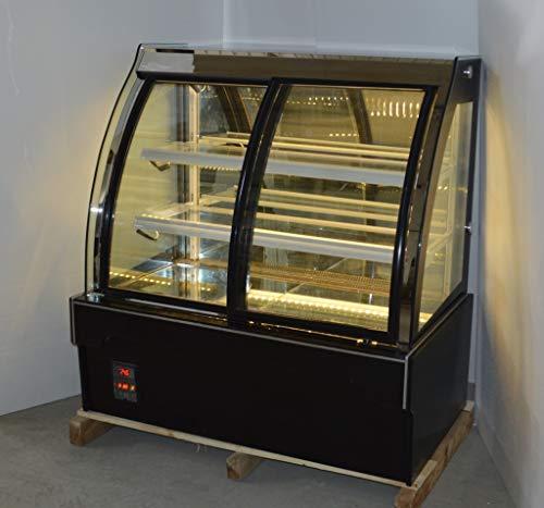 INTBUYING 48'' Floor Type Refrigerated Cake Showcase Pie Bekery Cabinet Display Case Cooler (Arc Front Door) ()