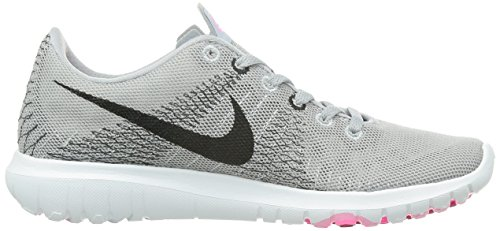 Nike Dames Flex Fury Hardloopschoenen Wolf Grijs / Zwart-ruimte Roze-roze Power