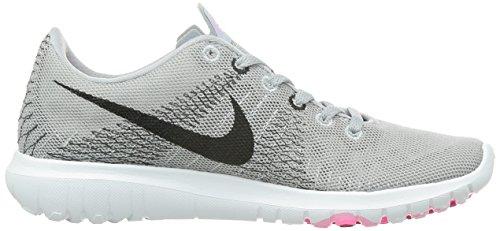 Nike Vrouwen Flex Woede Loopschoenen Wolf Grijs / Zwart-roze Ruimte-roze Macht