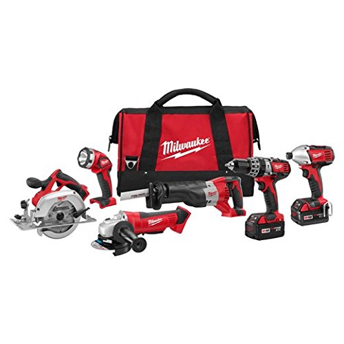 Milwaukee 2696-26 M18 Cordless LITHIUM-ION 6-Tool Combo Kit