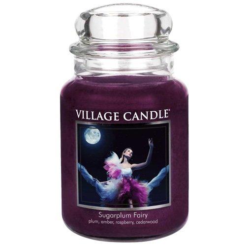 Village Candle Sugarplum Fairy Grande Vaso di Vetro, Violet, 9.8x9.5x16.2 cm 106026091