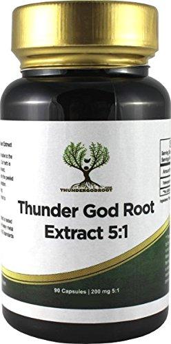 Thunder God Vine Root 5:1 Capsules 200mg 90 Count Bottle (1 Vine 1)