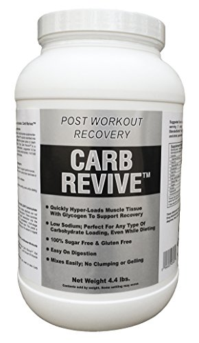 Carb Revive: Post-Workout Supplement Powder - Quickly Hyper-Load Muscle Cells With Glycogen - Supports Recovery From Working Out - Easy to Digest - 40 Unflavored Servings Per Tub