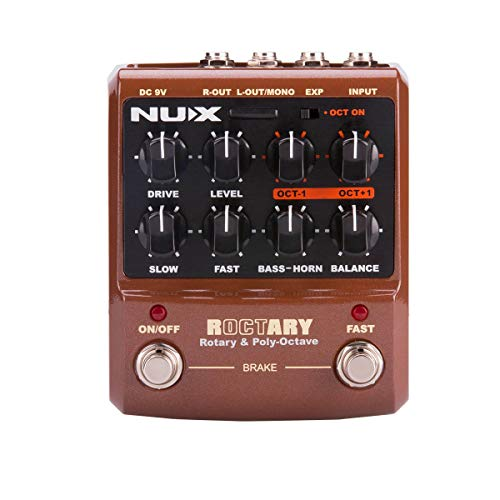 NUX Roctary force guitar effects pedal Rotary Speaker Simulator and cabinet polyphonic Octave effect 2 in 1